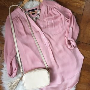 Silky Pink Blouse